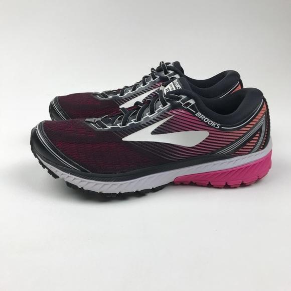 31b7accbecc Brooks Shoes - Brooks Ghost 10 Running Shoe Black   Pink Peacock